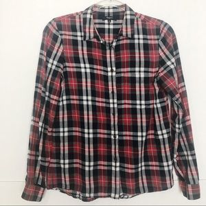 GUC Madewell  button down cotton plaid shirt